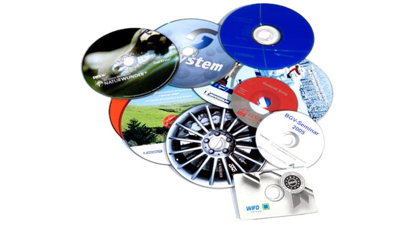 CD- und DVD-Vervielfältigung.