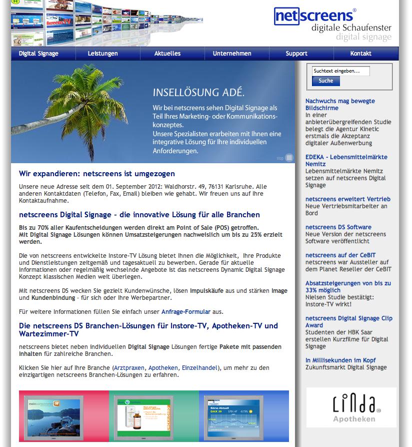netscreens digitale Schaufenster® GmbH